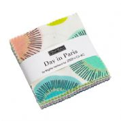 "Day in Paris - Mini Charm by Zen Chic for Moda Fabrics - 42 x 2.5"" fabric squares"
